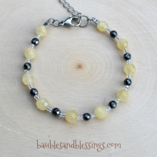 Yellow Calcite & Hemalyke Bracelet