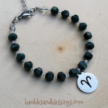 Aries Bracelet with Faceted Bloodstone