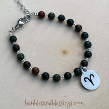 Aries Bracelet with Indian Bloodstone