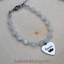 "Rainbow Moonstone ""Queen"" Bracelet"